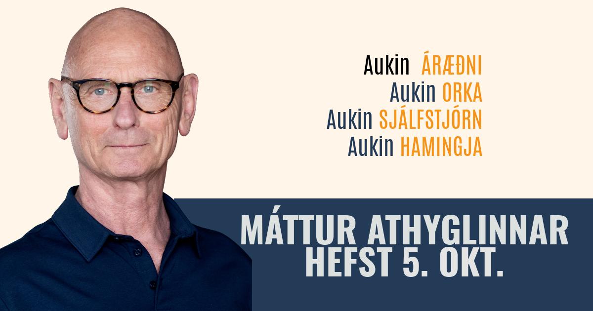 Máttur athyglinnar, netnámskeið hefst 5. október, 2021. Skráðu þig í dag. rys.is